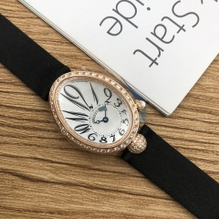 Breguet Reine De Naples 25*33mm White Mother of Pearl Dial 18K Rose Glod Automatic 8928BR/5W/844/DD0D