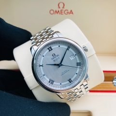 OMEGA De Ville Prestige 39.5mm Stainless Steel Silver Dial Automatic 424.10.40.20.02.001