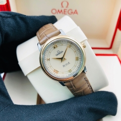 OMEGA De Ville Prestige 27.4mm Steel-Rose Gold White Dial Quartz 424.23.27.60.09.001
