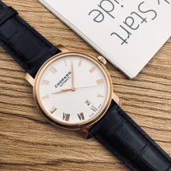 Chopard Classic 40mm 18K Rose Gold White Dial Automatic 161278-5005