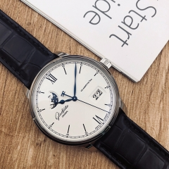 GLASHUTTE Senator Excellence Panorama Date Moon Phasee 40mm Stainless Steel White Dial Automatic 1-36-04-01-02-30