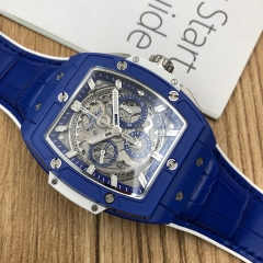 Hublot Spirit Of Big Bang 42mm Blue Ceramic Sapphire Crystal Dial Automatic 641.EX.5129.LR