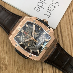 Hublot Spirit of Big Bang 45mm 18K Rose Gold Sapphire Dial Automatic 601.OX.0183.LR