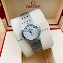 OMEGA Constellation 24mm Stainless Steel White Mother Of Pearl Dial Quartz 123.10.24.60.05.001