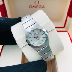 OMEGA Constellation 24mm Stainless Steel Silver Dial Quartz 123.10.24.60.02.001