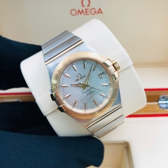OMEGA Constellation 35mm Steel-Red Gold Silver Dial Automatic 123.20.35.20.02.001