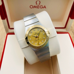 OMEGA Constellation 27mm Steel-Yellow Gold Champagne Dial Quartz 123.20.27.60.58.001