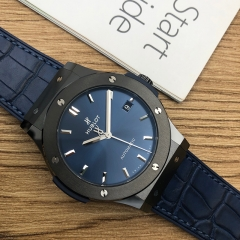 Hublot Classic Fusion 45mm Ceramic Blue Dial Automatic 511.CM.7170.LR