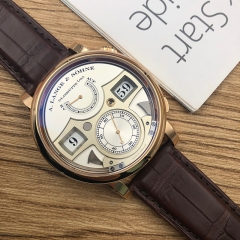 A.Lange & Söhne Zeitwerk 41.9mm 18K Rose Gold Silver Dial Manual-winding 145.032