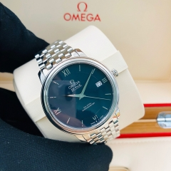 OMEGA De Ville Prestige 39.5mm Stainless Steel Blue Dial Automatic 424.10.40.20.03.001