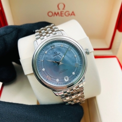 OMEGA De Ville Prestige 32.7mm Stainless Steel Blue Dial Automatic 424.10.33.20.57.001