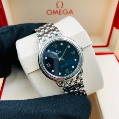 OMEGA De Ville Prestige 27.4mm Stainless Steel Blue Dial Quartz 424.10.27.60.53.003