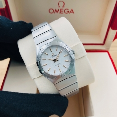 OMEGA Constellation 27mm Stainless Steel Silver Dial Quartz 123.10.27.60.02.004
