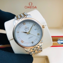OMEGA De Ville Prestige 39.5mm Steel-Rose Gold Silver Dial Automatic 424.20.40.20.02.002