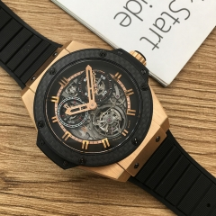 Hublot Big Bang Tourbillon Power Reserve 5 Days 48mm 18K Rose Gold Skeleton Dial 704.OQ.1138.GR