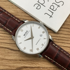 MIDO Baroncelli 38mm Stainless Steel White Dial Automatic M8600.4.26.8