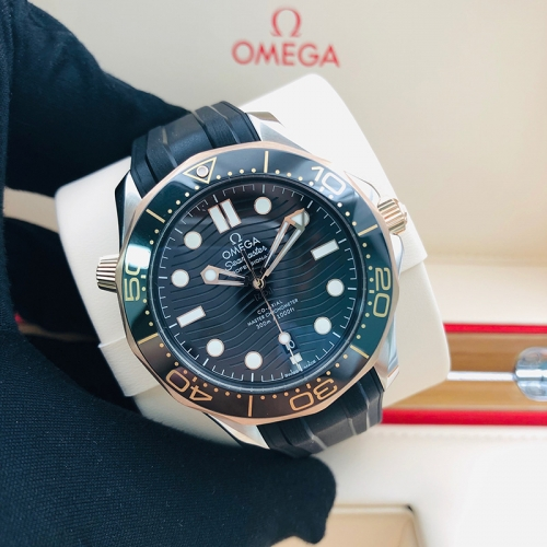 OMEGA Seamaster Diver 300M 42mm Rose Gold-Steel Black Dial Automatic 210.22.42.20.01.002