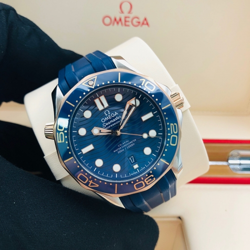 OMEGA Seamaster Diver 300M 42mm Rose Gold-Steel Blue Dial Automatic 210.22.42.20.03.002