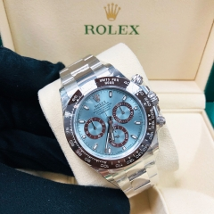 ROLEX Daytona 40mm 18K White Gold Light Blue Dial Automatic 116506BL