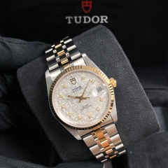 Tudor Prince Date 34mm Steel-Yellow Gold Silver Dial Automatic M74033-0006