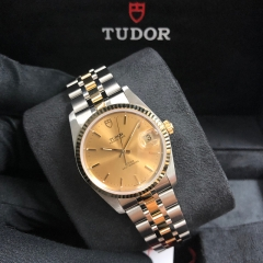 Tudor Prince Date 34mm Steel-Yellow Gold Champagne Dial Automatic M74033-0002