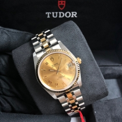 Tudor Prince Date 34mm Steel-Yellow Gold Champagne Dial Automatic M74033-0009