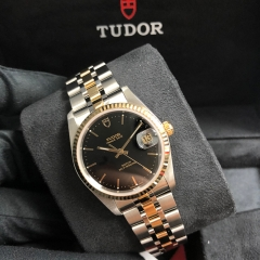 Tudor Prince Date 34mm Steel-Yellow Gold Black Dial Automatic M74033-0003