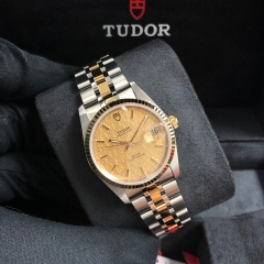 Tudor Prince Date 34mm Steel-Yellow Gold Champagne Dial Automatic M74033-0013