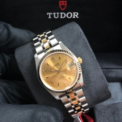 Tudor Prince Date 34mm Steel-Yellow Gold Champagne Dial Automatic M74033-0001