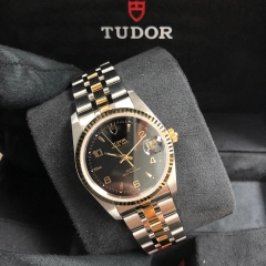 Tudor Prince Date 34mm Steel-Yellow Gold Black Dial Automatic M74033-0008