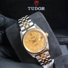 Tudor Prince Date 34mm Steel-Yellow Gold Champagne Dial Automatic M74033-0005