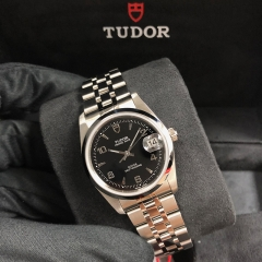 Tudor Prince Date 34mm Stainless Steel Black Dial Automatic M74000-0009
