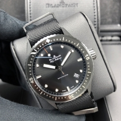 Blancpain Fifty Fathoms 43mm Ceramic Black Dial Automatic 5000-0130-NABA