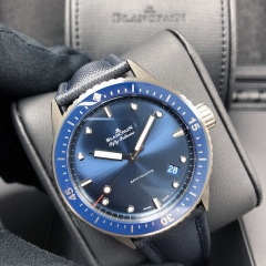 Blancpain Fifty Fathoms 43.6mm Ceramic Blue Dial Automatic 5000-0240-O52A