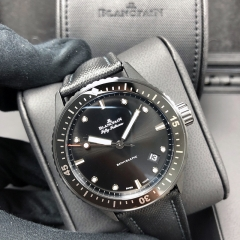 Blancpain Fifty Fathoms 43mm Ceramic Black Dial Automatic 5000-0130-B52A