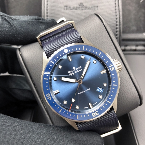 Blancpain Fifty Fathoms 43.6mm Ceramic Blue Dial Automatic 5000-0240-NAOA