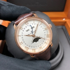 Blancpain Villeret 40mm 18K Rose Gold White Dial Automatic 6654-3642-55B