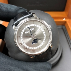 Blancpain Villeret 40mm Stainless Steel Grey Dial Automatic 6654-1113-55B