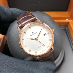 Blancpain Villeret 38mm Rose Gold White Dial Automatic 6223-3642-55B