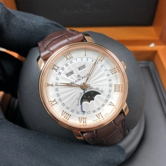 Blancpain Villeret 40mm 18K Rose Gold Silver Dial Automatic 6664-3642-55B