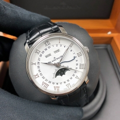 Blancpain Villeret 40mm Stainless Steel White Dial Automatic 6654-1127-55B