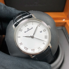 Blancpain Villeret 40mm Stainless Steel White Dial Automatic 6651-1127-55B