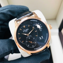 GLASHUTTE Pano 40mm 18K Rose Gold Black Dial Automatic 1-90-02-49-35-30