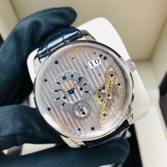 GLASHUTTE Pano PanoMaticInverse 42mm Stainless Steel Galvanized Dial Automatic 1-91-02-02-02-30