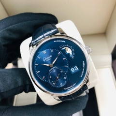 GLASHUTTE Pano 40mm Stainless Steel Blue Dial Automatic 1-90-02-46-32-35
