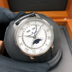 Blancpain Villeret 40mm Stainless Steel White Dial Automatic 6654A-1127-55B