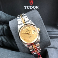 Tudor Prince Date Day 36mm Steel-Yellow Champagne Dial Automatic M76213-0016