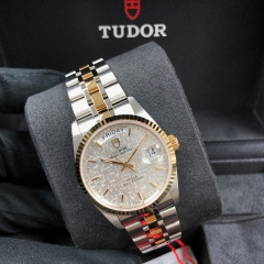 Tudor Prince Date Day 36mm Steel-Yellow Silver Dial Automatic M76213-0019