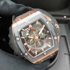 HUBLOT Spirit of Big Bang 42mm 18K Rose Gold Sapphire Automatic 641.OM.0183.LR