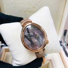 Breguet Reine De Naples 27.3*33mm Black Mother of Pearl Dial 18K Rose Gold Automatic 9808BR/5T/922/0D00